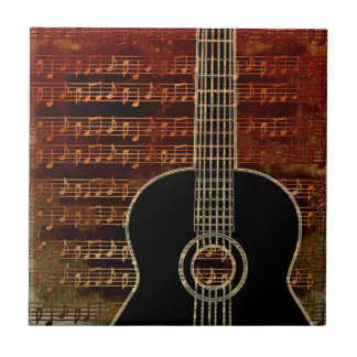 Warm Tones Guitar ID280 Tile