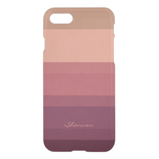 Warm Tones Subtle & Chic Striped iPhone 7 case