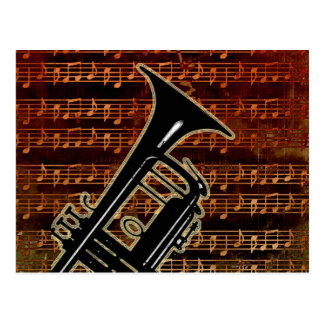 Warm Tones Trumpet ID280 Postcard