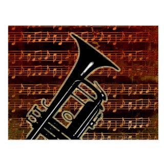 Warm Tones Trumpet Postcards