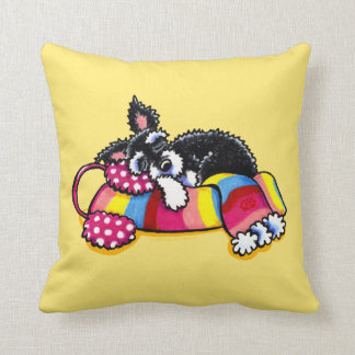 Warm Up Little Schnauzer Cushion