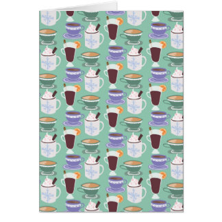 Warm Wintery Drinks Print Card