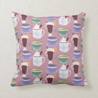 Warm Wintery Drinks Print Cushion