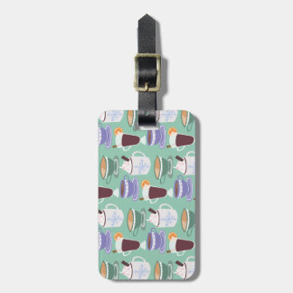 Warm Wintery Drinks Print Luggage Tag