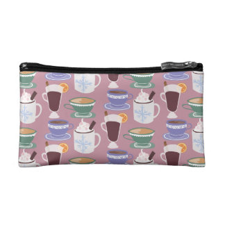 Warm Wintery Drinks Print Makeup Bags