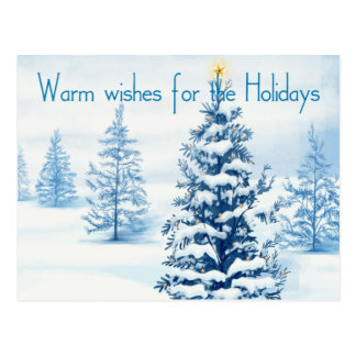 Warm wishes for the Holidays Postcard