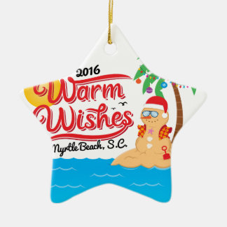 Warm Wishes from Myrtle Beach Christmas Ornament