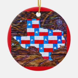 Warm Wishes from Texas Round Ceramic Decoration