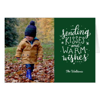 Warm Wishes Holiday Photo Card