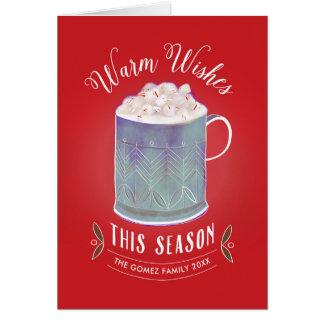 Warm Wishes This Season Peppermint Hot Cocoa Mug Card