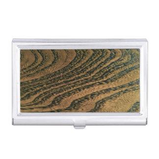 Warm wood grain business card holder