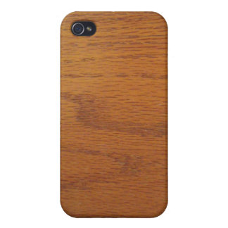 Warm Wood Grain Texture Covers For iPhone 4
