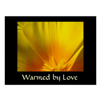 WARMED BY LOVE Art Prints gifts Canvas Poppies Print
