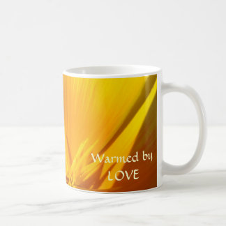 WARMED BY LOVE Coffee Cup Valentines Gifts Poppies Coffee Mugs