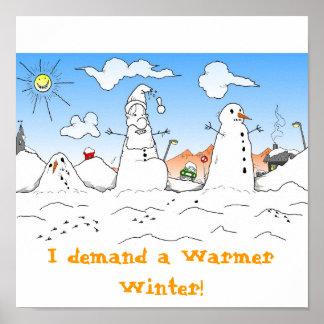 Warmer Winter Xmas Poster