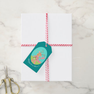 Warmest wishes - Christmas reindeer gift tags