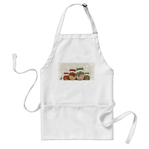 Warmest Wishes Owl Family Apron