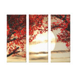 Warming and Peaceful Trees  Wrapped Canvas Canvas Print