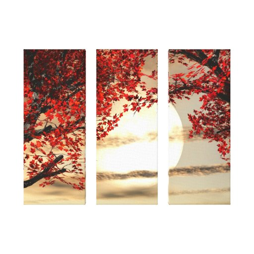 Warming and Peaceful Trees  Wrapped Canvas Stretched Canvas Print