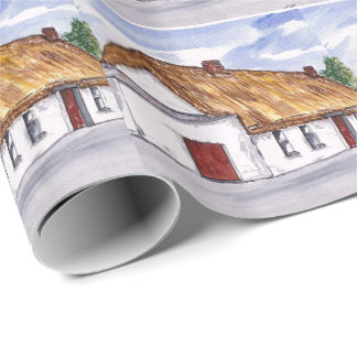 Warmth of home cottage wrapping paper