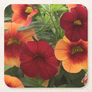 Warmth Of The Sun Floral Square Paper Coaster
