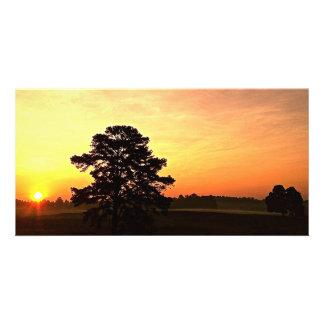 """Warmth"" Sunrise Panoramic Personalised Photo Card"