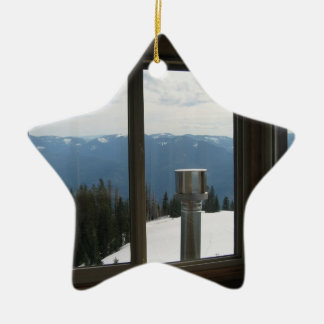Warner Mountain Fire Lookout Ceramic Star Decoration