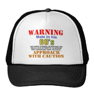warnin male in his 60's cap