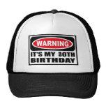 Warning 30 cap