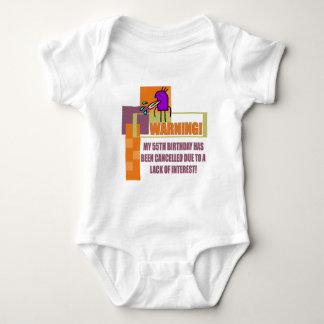 Warning 55th Birthday Gifts Tee Shirts