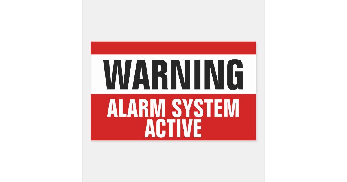 Warning Alarm System Active Stickers Zazzle Co Uk