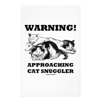 Warning! Approaching Cat Snuggler Stationery