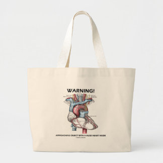 Warning Approaching Object With Huge Heart Inside Tote Bag
