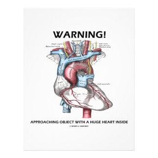 Warning! Approaching Object With Huge Heart Inside Custom Flyer