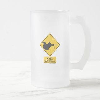 Warning Armed Squirrels Coffee Mug