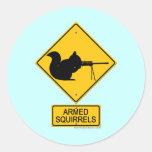 Warning Armed Squirrels Sticker