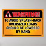WARNING - Avoid Splash-Back Bathroom Poster