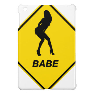 """Warning - Babe alert"" design iPad Mini Cover"