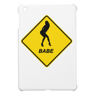 """Warning """"Babe"""" design Apple product cases Cover For The iPad Mini"""