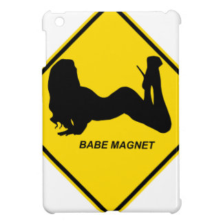 """Warning - Babe magnet"" design Case For The iPad Mini"