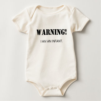 Warning! Baby Bodysuit
