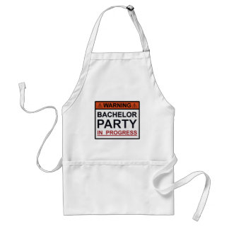 Warning Bachelor Party in Progress Adult Apron
