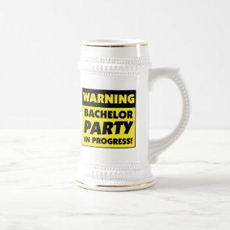 Warning Bachelor Party In Progress Mug