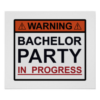 Warning Bachelor Party in Progress Posters