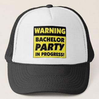 Warning Bachelor Party In Progress Trucker Hat