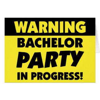 Warning Bachelor Party Invitation Greeting Card