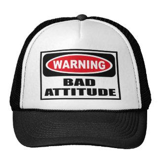 Warning BAD ATTITUDE Hat