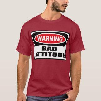 Warning BAD ATTITUDE Men's Dark T-Shirt