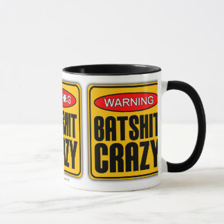 WARNING: Batshit Crazy Mug