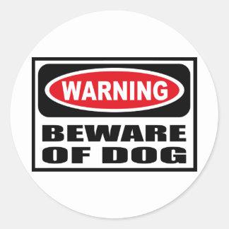 Warning BEWARE OF DOG Sticker